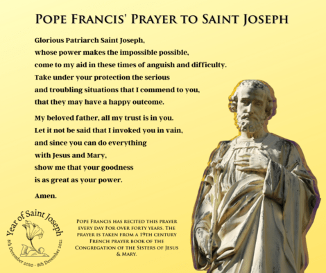Pope Francis prayer to St Joseph 2