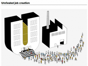image from P-G article with workers in the nonprofit sector