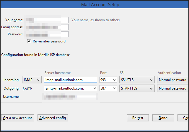 How to set up an Outlook.com account for Thunderbird with IMAP settings …