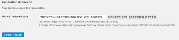Favicon WordPress 7