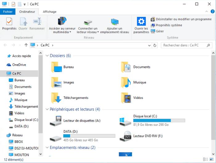 Explorateur Windows 10 - Ce PC