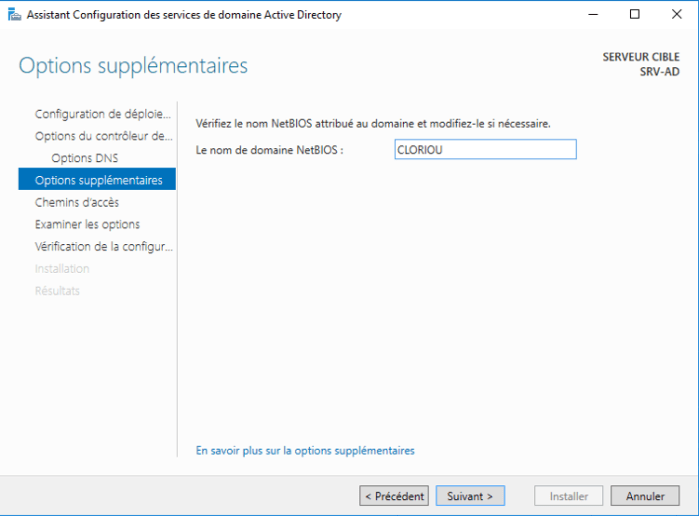 Installation Active Directory - 19