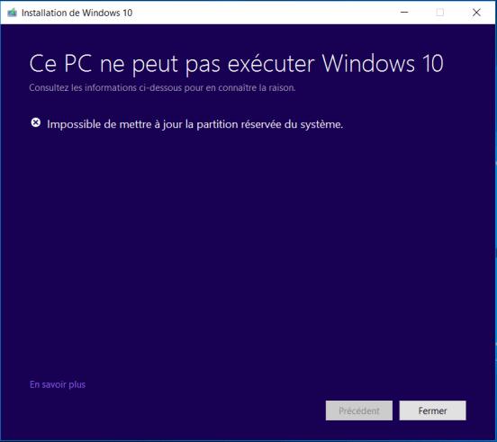 Erreur 0xc1900200 - MàJ Windows 10