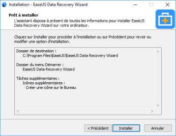 Installation EaseUS Data Recovery Wizard