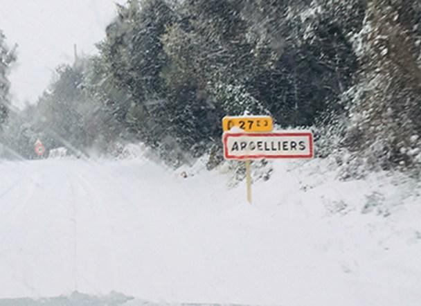 Argelliers février chute de neige