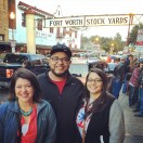 With our nephew + his lady in Ft Worth