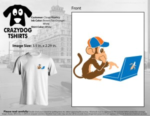 Closer Monkey T-shirt in white