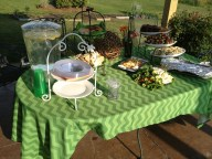 Green Chevron Tablescape