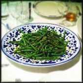 Green beans with Orange and Rosemary Gremolata