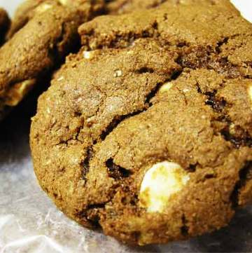 White Chocolate Chip Chewy Gingerbread Cookies