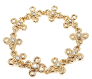 Chanel 18K Yellow Gold DIamond Bracelet
