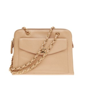Chanel Front Flap Shoulder Bag Caviar Trendlee