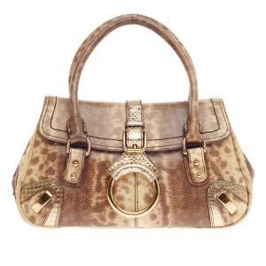 Dolce & Gabbana Snakeskin Flap Bag Trendlee