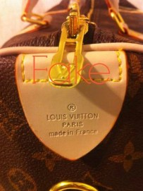 Fake Louis Vuitton Tag
