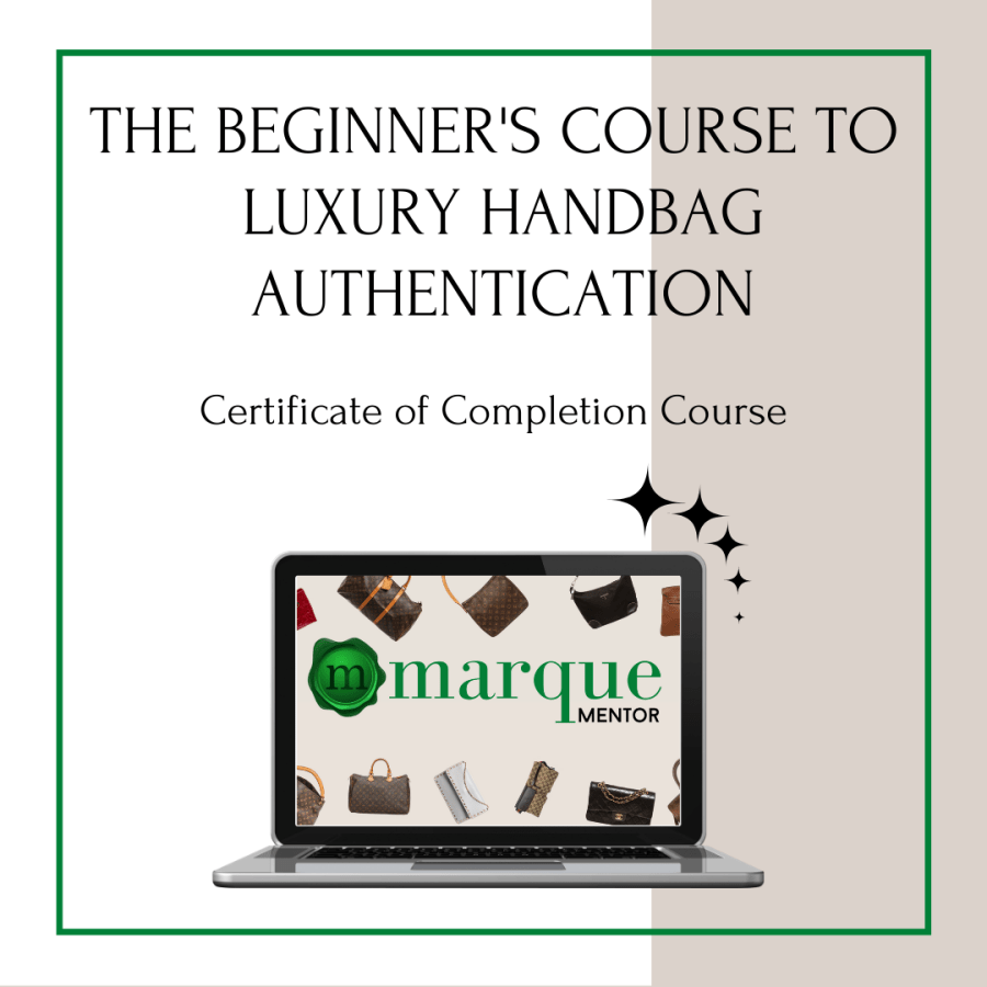 Luxury Handbag Authentication Certificate of Completion Courses