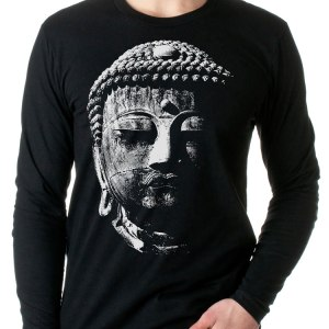 Great Buddha T Shirt Long Sleeve shirt by Closet of Mysteries