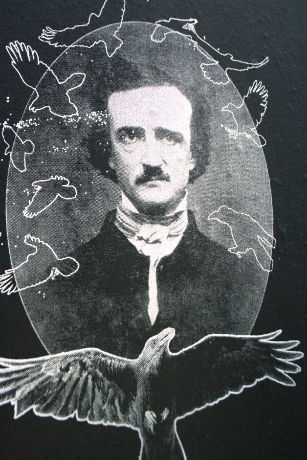 Edgar Allan Poe with Ravens T Shirt from Closet of Mysteries Detail