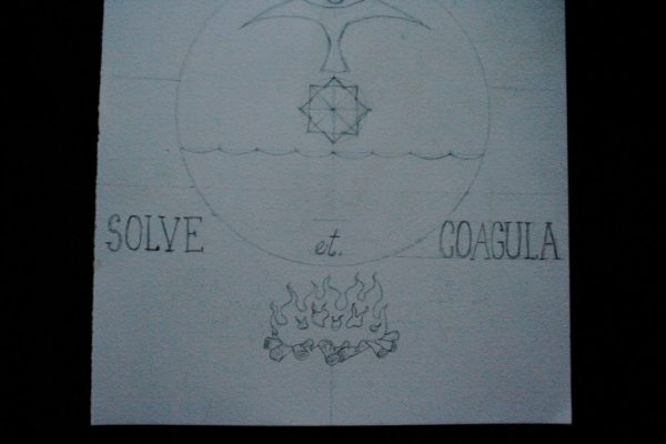 Solve et Coagula modern alchemy diagram by Scott Myst