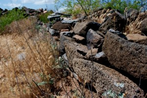 Stone wall built by ancient hands at Agua Fria National Monument