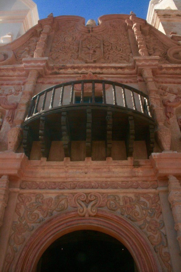 Entrance to San Xavier del Bac Mission in Tucson, AZ