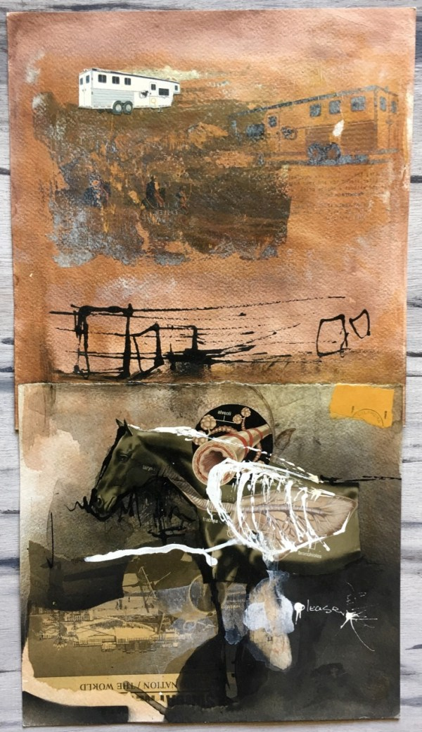 Mixed Media artwork by Scott Myst - Call of a distant voice