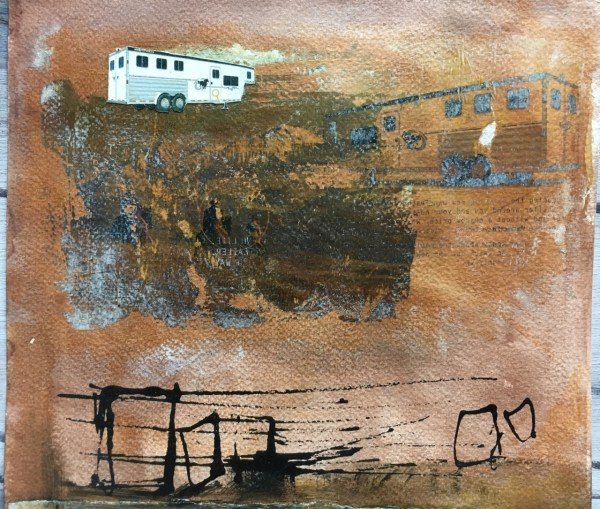 Mixed Media artwork by Scott Myst - Call of a distant voice - detail