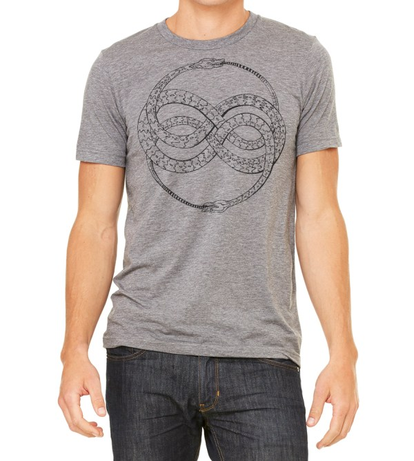Ouroboros shirt Grey Triblend by Closet of Mysteries