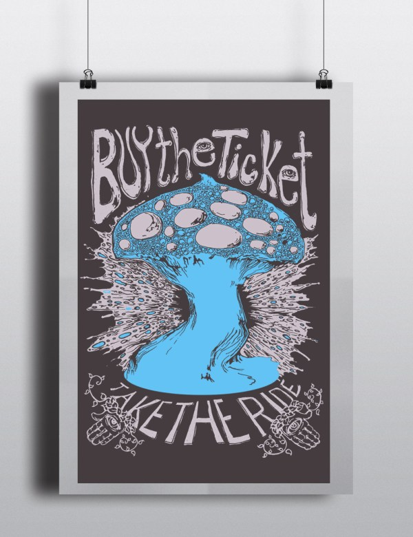 buy the ticket mushroom poster by closet of mysteries