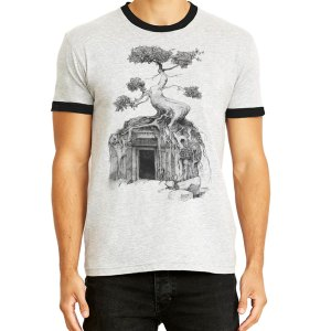 angkor wat bodhi tree shirt ringer tee by Closet of Mysteries