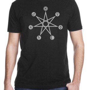Days of the week planetary correspondence shirt by Closet of Mysteries Black