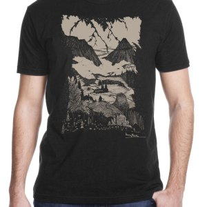 """Harry Clarke """"Landor's Cottage"""" Shirt for Edgar Allan Poe's story printed by Closet of Mysteries"""