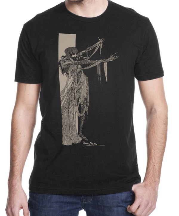 """Harry Clarke """"Fall of the House of Usher"""" shirt illustration for Edgar Allan Poe story printed by Closet of Mysteries"""