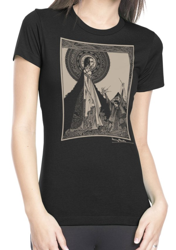Ladies' Ligeia T Shirt Harry Clarke illustration for Poe Story