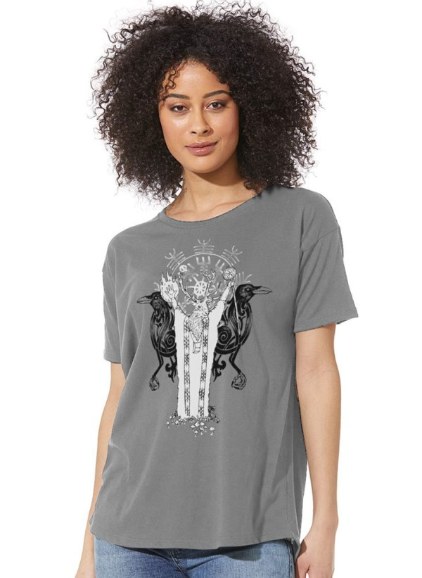 Norse Shaman Women's Flowy Shirt by Closet of Mysteries