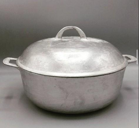 Cast Aluminum Cooking Pot – Silver