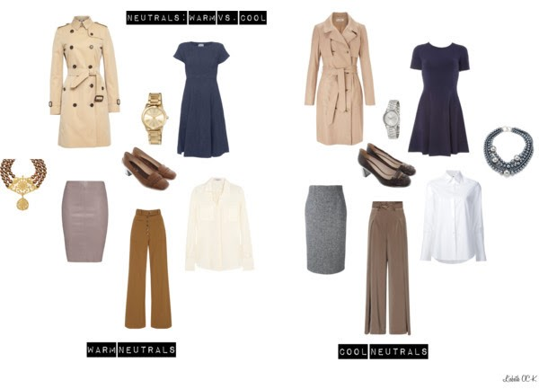 Polyvore of Warm vs. Cool Neutral Women's Clothing