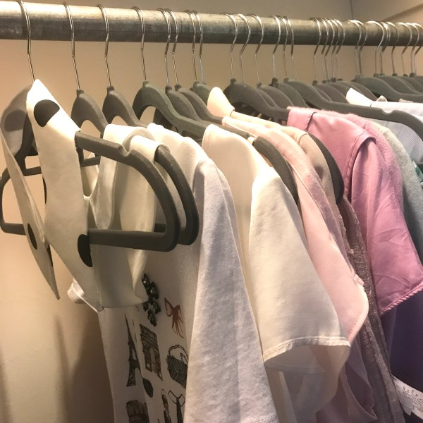 Closet View, Removable Collars on Hangers