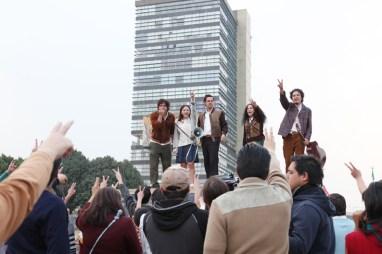 El elenco estuvo en la Torre de Rectoría, de CU.