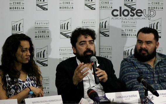 El director Iván Ávila Dueñas presenta El peluquero romántico, en competencia (Foto: Itzuri Sánchez)