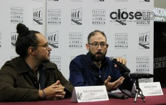 El director Rodrigo Reyes en conferencia de prensa (Foto: Itzuri Sánchez)