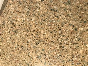 Quartz bathroom countertop