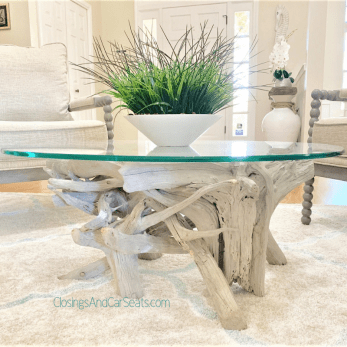 Coastal home Decor driftwood table