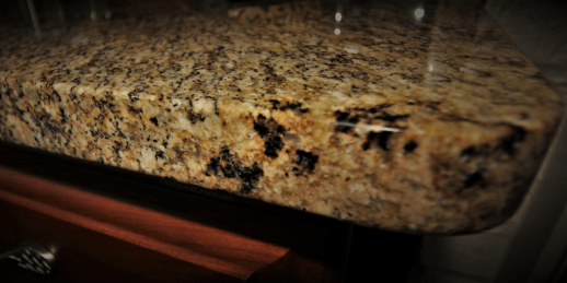round eased edge granite counter top