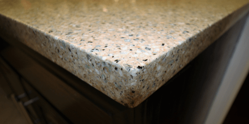 square eased Edge counter top quartz