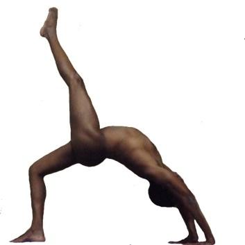 eka pada urdhva danurasana ( one leggedupward facing bow or wheel pose)