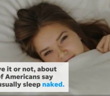 Study: Two-thirds of Millennials sleep nude (via USA TODAY)