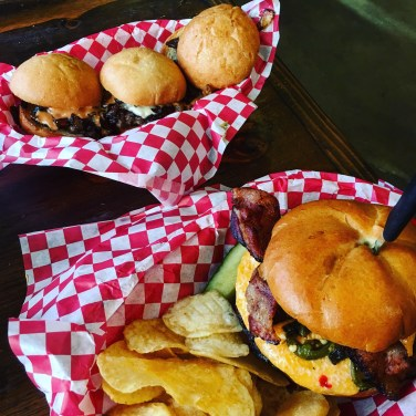 Sliders (for the aunt who stayed home) and burg