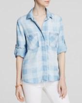 Bella Dahl Chambray Gingham Shirt - $158, Bloomingdale's