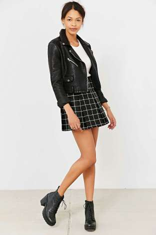 Silence & Noise Inverted Pleated Mini Skirt - $39 sale, Urban Outfitters