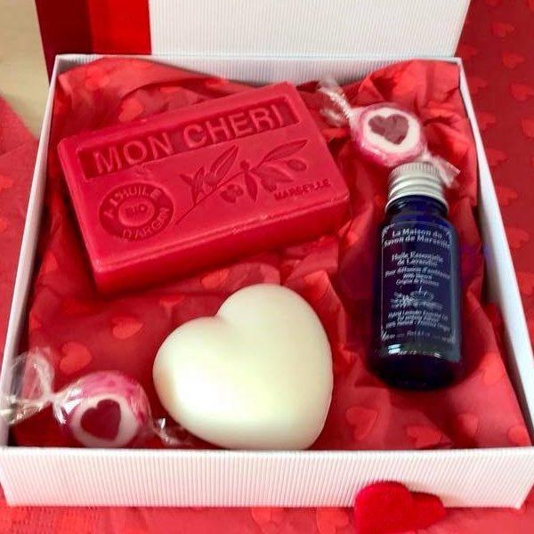 Coffret cadeau massage saint Valentin